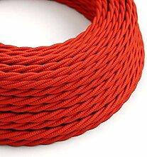 creative cables Textilkabel geflochten, rot mit