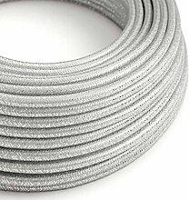 creative cables Textilkabel geflochten, Silber