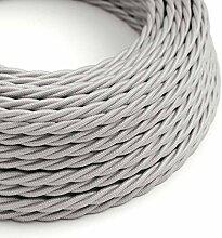 creative cables Textilkabel geflochten, Silber mit