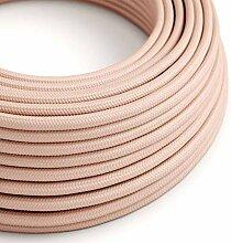 creative cables Textilkabel rund, Baby rosa mit