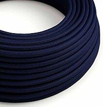 creative cables Textilkabel rund, dunkelblau mit