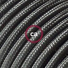 creative cables Textilkabel rund, dunkelgrau mit