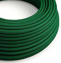 creative cables Textilkabel rund, dunkelgrün mit