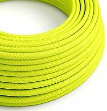 creative cables Textilkabel rund, gelb Fluo mit