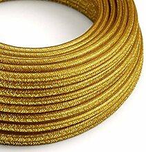 creative cables Textilkabel rund, Gold Glitzer mit