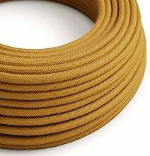creative cables Textilkabel rund, golden Honig