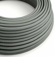 creative cables Textilkabel rund, grau mit