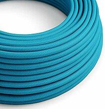 creative cables Textilkabel rund, hellblau mit