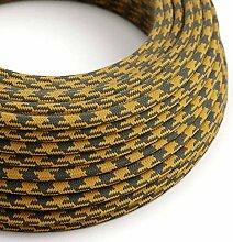 creative cables Textilkabel rund, Honig anthrazit