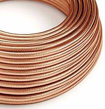 creative cables Textilkabel rund, Kupfer/Kupferrot