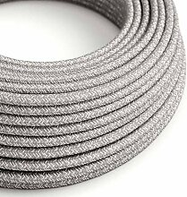 creative cables Textilkabel rund, leinen grau,