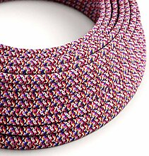 creative cables Textilkabel rund, Pixel Fuchisa