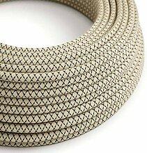 creative cables Textilkabel rund, Raute, anthrazit
