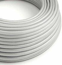 creative cables Textilkabel rund, Silber mit