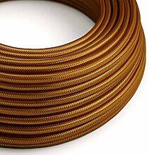 creative cables Textilkabel rund, Whiskey mit