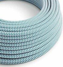 creative cables Textilkabel rund, Zick-Zack