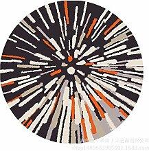 Creative carpet Microfaser Badematte Couchtisch Schlafzimmer Matte Import Türmatte Computer Stuhl Matte Runde Bodenmatte,160*160