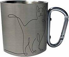Creative cat animal design Edelstahl Karabiner