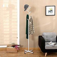 Creative Coat Racks Schlafzimmer Kleiderbügel Home European Style Einfache Mode Iron Clothes Regale ( farbe : Weiß )