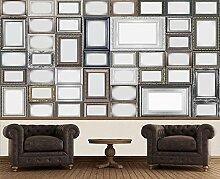 Creative Collage Bilderrahmen Foto-Tapete 64-teilig - Fototapete Wallpaper. Beigelegt sind eine Packung Kleber und eine Klebeanleitung.