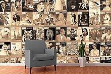Creative Collage LIFE Magazin Covers Foto-Tapete 64-teilig - Fototapete Wallpaper. Beigelegt sind eine Packung Kleber und eine Klebeanleitung.