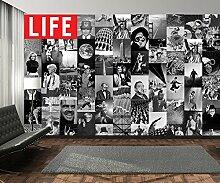 Creative Collage LIFE Magazin Icons Foto-Tapete 64-teilig - Fototapete Wallpaper. Beigelegt sind eine Packung Kleber und eine Klebeanleitung.