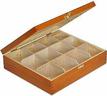 Creative Deco Teebox Adler Holz 12 Fächer mit