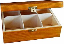 Creative Deco Teebox Adler Holz 6 Fächer mit