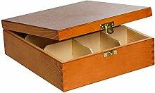 Creative Deco Teebox Adler Holz 9 Fächer mit