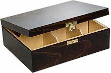 Creative Deco Teebox Braun Holz 6 Fächer mit