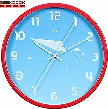 Creative Design Round Metal Mute Wall Clock Living Zimmer Kinder Zimmer Cartoon Clock Tisch