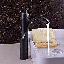 Creative Design schwarz Waschbecken Wasserhahn
