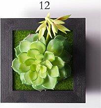 Creative Emulation Blumen Wand Dekoration Sukkulenten Pflanzen Mauer hanging Wohnzimmer schlafraum zuhause,12