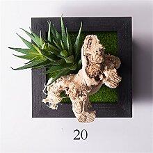 Creative Emulation Blumen Wand Dekoration Sukkulenten Pflanzen Mauer hanging Wohnzimmer schlafraum zuhause,20