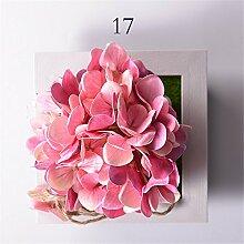 Creative Emulation Blumen Wand Dekoration Sukkulenten Pflanzen Mauer hanging Wohnzimmer schlafraum zuhause,17