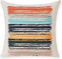 Creative Geometric Cotton And Linen Pillow,Sofa Decoration Pillow,Pillowcase-D 53x53cm(21x21inch)VersionA