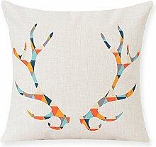 Creative Geometric Cotton And Linen Pillow,Sofa Decoration Pillow,Pillowcase-A 53x53cm(21x21inch)VersionA