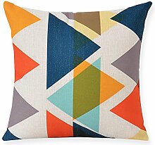 Creative Geometric Cotton And Linen Pillow,Sofa Decoration Pillow,Pillowcase-E 45x45cm(18x18inch)VersionA