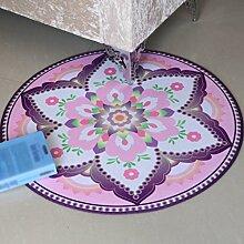 Creative Light- Dickere runde Teppiche Computer Stuhl Matten Wohnzimmer Schlafzimmer Nachttischdecke ( Farbe : #1 , größe : Diameter 120cm )