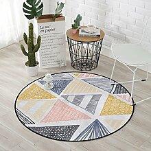 Creative Light- Einfache moderne geometrische Muster Runde Teppich Schlafzimmer Home Computer Stuhl Matten ( größe : Diameter 120cm )