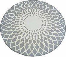 Creative Light- Europäische Moderne Geometrische Teppich Runde Wohnzimmer Schlafzimmer Nachttisch Teppich Computer Stuhl Matten ( Farbe : Grau , größe : 120*120cm )