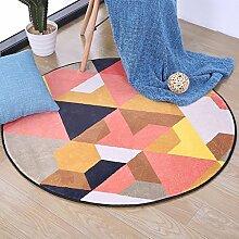 Creative Light- Europäische Stil Runde Teppiche Schlafzimmer Computer Stuhl Matten Wohnzimmer Couchtisch Dicker Teppich ( Farbe : #1 , größe : Diameter 180cm )