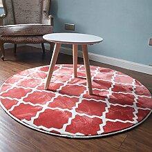 Creative Light- Fashion Round Teppiche Computer Stuhl Matten Bedside Teppiche ( Farbe : #1 , größe : 1m*1m )