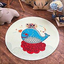 Creative Light- Kinder runden Teppich Polyester Computer Stuhl Matten Wohnzimmer Schlafzimmer Schlafsofa Edge Anti - Skid Pad Baby Crawling Teppich ( Farbe : #3 , größe : Diameter 160cm )