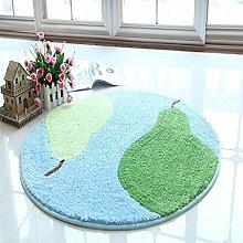 Creative Light- Kinderzimmer Computer Drehstuhl Stuhl Teppiche Schlafzimmer Nachttisch rutschfeste Matten Runde Teppich ( Farbe : #2 , größe : 120cm*120cm )