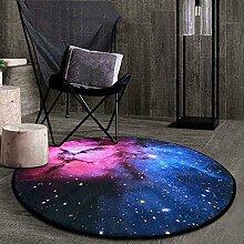 Creative Light- Kreative Mode Runde Teppiche Schlafzimmer Kaffee Mats Wohnzimmer Bedside Korb Decke Computer Stuhl Matten ( Farbe : #1 , größe : 100cm )