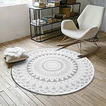 Creative Light- Ländliches Wohnzimmer Bereich Teppiche Runde Geometrisches Muster Schlafzimmer Bereich Teppiche Weiche rutschfeste Teetisch Computer Stuhl Matten ( Farbe : #4 , größe : 180cm )