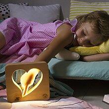 Creative Light LED Nachtlichter für Kinder. Lampen für Kinderzimmer. Nachtlampe für Schlafzimmer. Kinderlicht. Nachtlicht Kind (Herz)