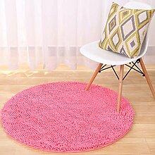 Creative Light- Microfaser Chenille runde Teppiche rutschfeste Computer Stuhl Teppich Schlafzimmer Teppich Yoga Pad ( Farbe : Orange , größe : 60 )