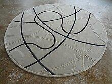 Creative Light- Moderne Einfache Geometrie Runde Teppiche Wohnzimmer Restaurant Studie Computer Stuhl Matten ( größe : 1.5m )